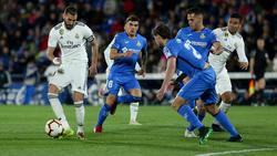 Benzema en un duelo reciente contra el Getafe. (Foto: Getty)