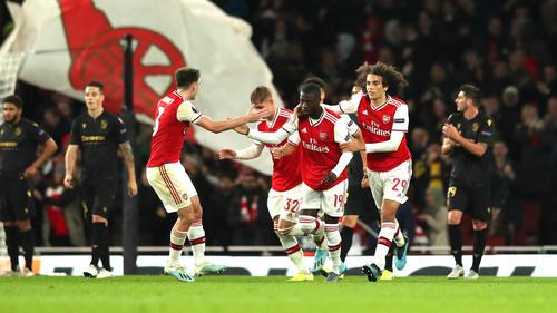 Der FC Arsenal setzte sich gegen Vitoria Guimaraes durch