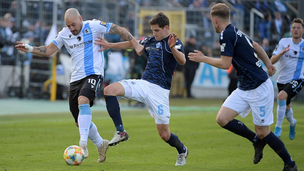 1860 München und Waldhof Mannheim trennten sich in der 3. Liga Remis