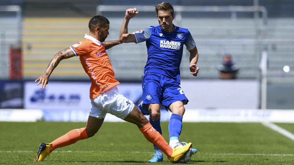 Der KSC setzte sich gegen den SV Darmstadt durch