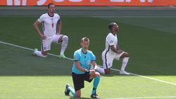 Englands Spieler setzen bei der Euro 2021 ein Statement gegen Rassismus
