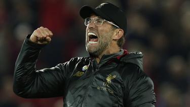 Jürgen Klopp war nach dem Last-Minute-Sieg im Derby nicht mehr zu stoppen