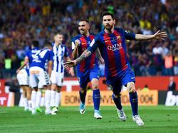 Leo Messi marcó la diferencia sobre el césped del Calderón (Foto: Getty)