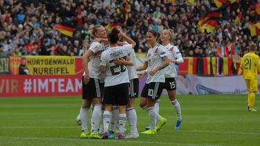 Deutsche Frauen-Nationalmannschaft zerlegt die Ukraine