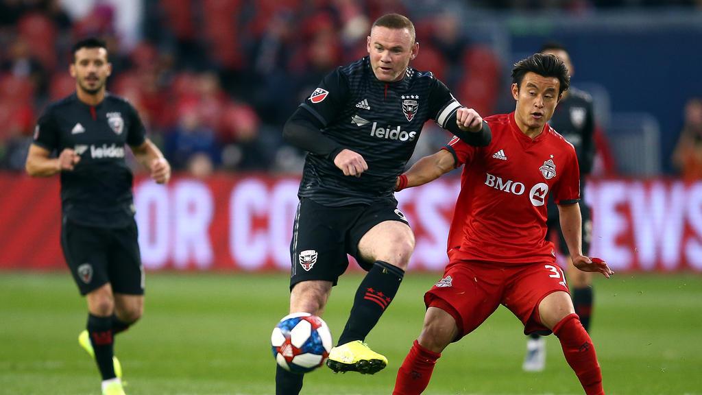 Rooney en su último partido en Estados Unidos.
