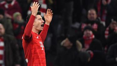 Robert Lewandowski war mal wieder der Sieggarant für den FC Bayern