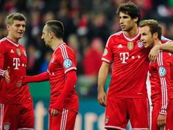 Die Bayern bejubeln ein souveränes 5:1 gegen Kaiserslautern