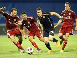 Dinamo Zagreb lief sich gegen Fola Esch immer wieder fest