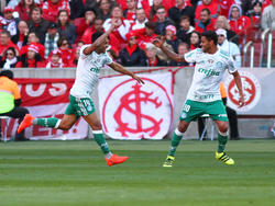 Erik (izq.) marcó el tanto de la victoria del Palmeiras. (Foto: Getty)