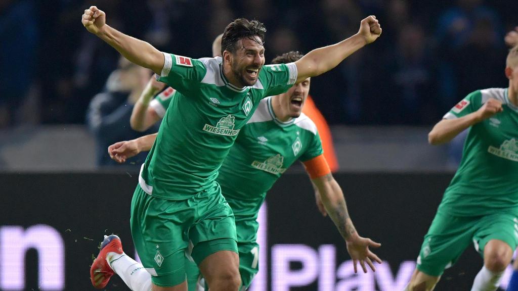 Claudio Pizarro will mit dem SVW ins Pokalfinale