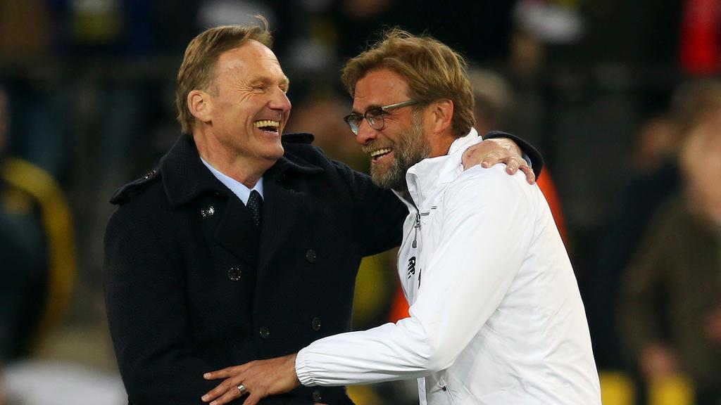 Gute Freunde: BVB-Boss Hans-Joachim Watzke und Liverpool-Coach Jürgen Klopp