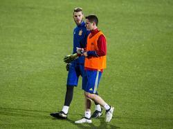 David De Gea y Ander Herrera en el entrenamiento. (Foto: Getty)