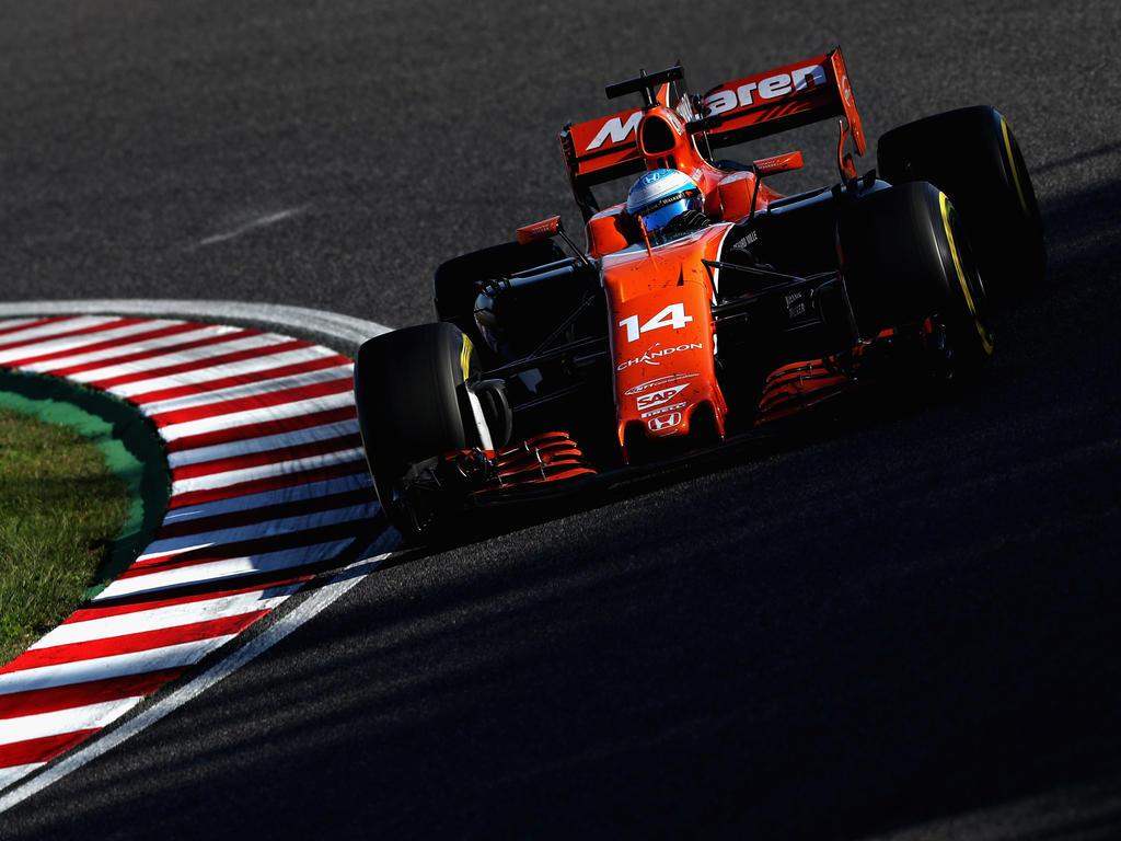 Noch vier Rennen muss Fernando Alonso mit dem Honda-Antrieb bestreiten