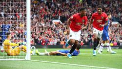 Martial y Rashford marcaron para el United.