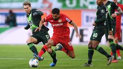 Bayer Leverkusen setzte sich gegen den VfL Wolfsburg durch