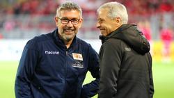 Urs Fischer (l.) und Lucien Favre kennen sich aus gemeinsamen Zeiten in der Schweiz