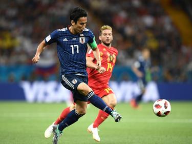 Makoto Hasebe en el duelo de octavos contra Bélgica. (Foto: Getty)