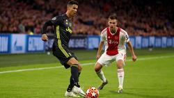 Ronaldo en un lance ante el Ajax en Champions.