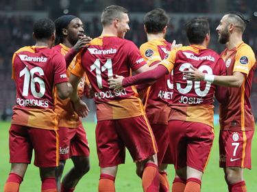 Gelungener Abend für Lukas Podolski (m.)