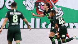 Wolfsburgs Spieler hatten auch in Leipzig Grund zum Jubel