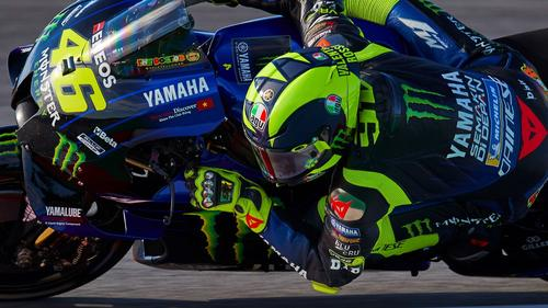Rossi startet aus Reihe eins