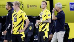 Julian Brandt und Marco Reus sind auch beim BVB derzeit nur Ersatz