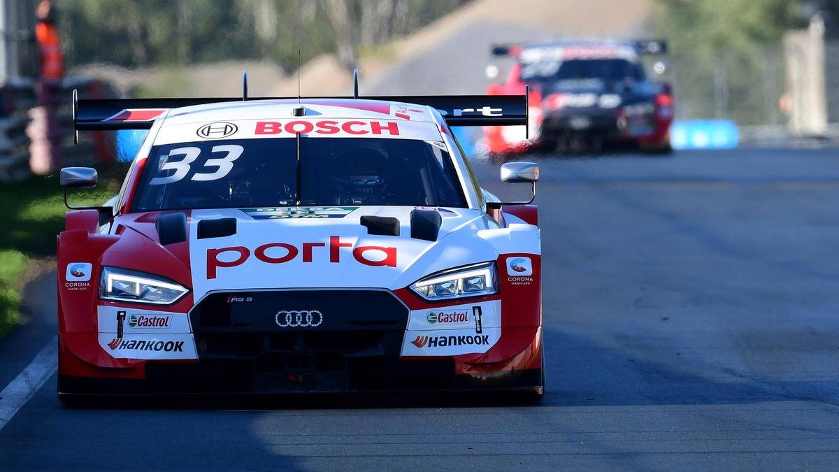 René Rast erhöht beim Zolder-Training den Druck auf die Abt-Audi-Piloten