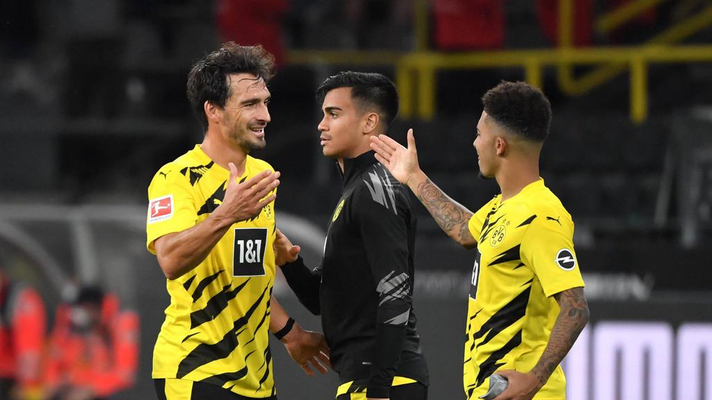 Jadon Sancho (r.) hat beim BVB wieder in die Spur gefunden