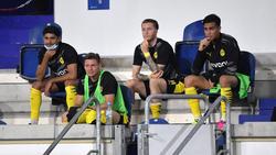 Mo Dahoud (l.) und Reinier (r.) sind nicht mit dem BVB nach Braunschweig gereist