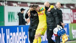Jannes Horn vom 1. FC Köln hatte sich im Spiel gegen den FC Augsburg verletzt