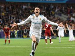 Bale celebra con rabia uno de los goles más bonitos de la historia de las finales. (Foto: Imago)