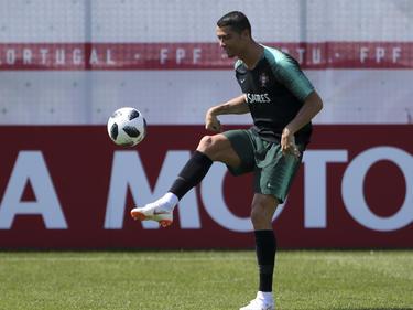 Ronaldo en un entrenamiento de la semana pasada. (Foto: Getty)