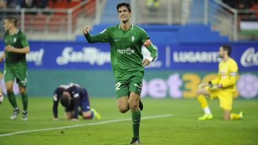 Pablo Pérez marcó en Eibar y llevó al Sporting a octavos. (Foto: Imago)
