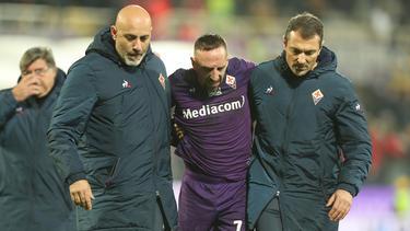 Frank Ribéry hat sich beim Spiel gegen Lecce am Knöchel verletzt