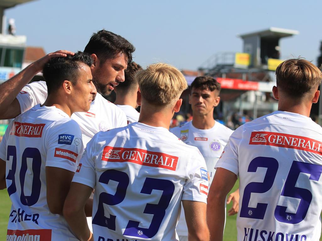 Die Austria bejubelte den zweiten Saisonsieg