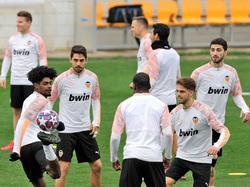 El Valencia entrenó ayer de cara al duelo.