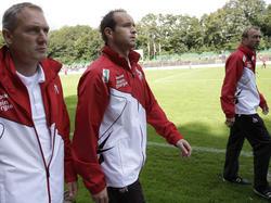 Dirk Lottner (M.) wird neuer Trainer von Hansa Rostock