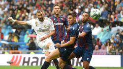 Real Madrid setzte sich gegen Levante UD durch