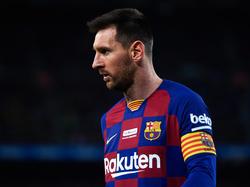 Messi en el duelo liguero frente al Mallorca.