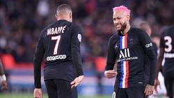 Sind die Top-Verdiener der Ligue 1: Kylian Mbappé und Neymar von PSG