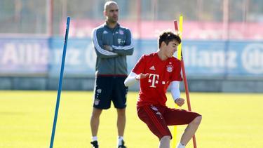 Lucas Scholl trainierte unter Pep Guardiola bei den Bayern-Profis mit