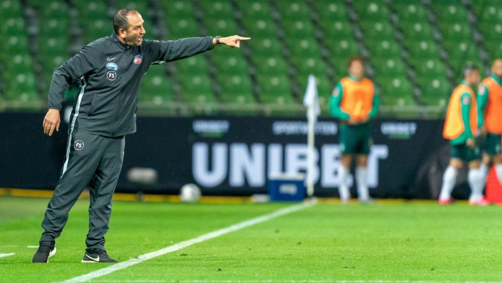 Frank Schmidt zeigt sich vor dem Rückspiel entschlossen