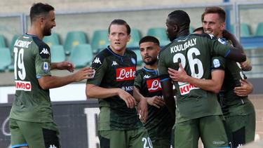 El Nápoles está lejos del líder, la Juventus.
