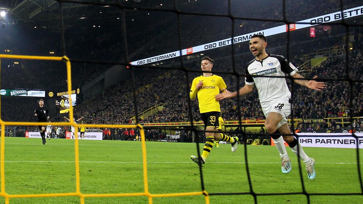 Traf für Paderborn beim BVB: Gerrit Holtmann