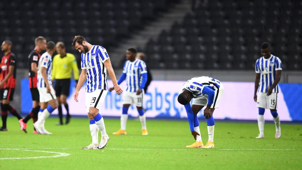 Bei der Hertha lief es gegen Eintracht Frankfurt nicht rund