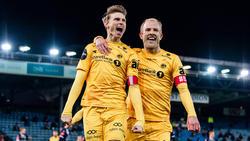 Union Berlin soll Interesse an Kasper Junker (li.) vom norwegischen Meister FKBodö/Glimt haben