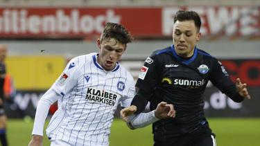 Der SC Paderborn und der KSC teilen die Punkte im Verfolgerduell