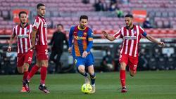 Kein Durchkommen für Lionel Messi