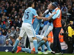 Celebración del gol de Nasri que dio el triunfo al City. (Foto: Getty)
