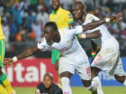 Sadio Mane bejubelt Senegals Ausgleich